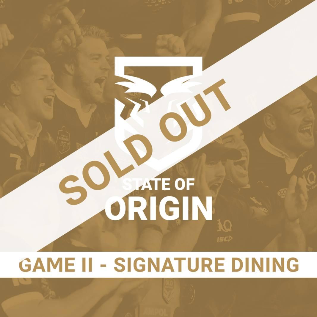State of Origin Game II - Signature Dining0